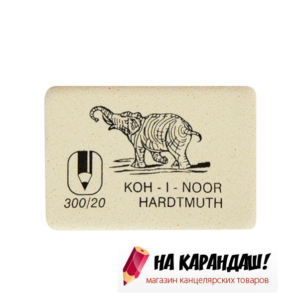 Ластик прям бел Слон 45*32*12мм KIN 300/20