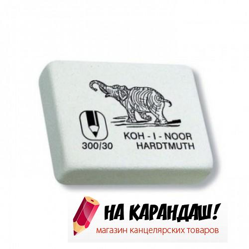 Ластик прям бел Слон 35*28*10мм KIN 300/30