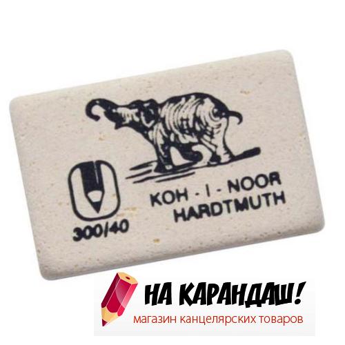 Ластик прям бел Слон 35*23*8мм KIN 300/40