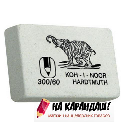 Ластик прям бел Слон 31*21*8мм KIN 300/60
