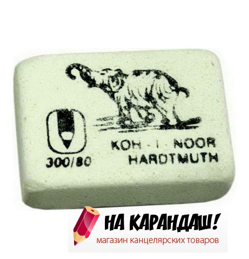 Ластик прям бел Слон 26*18*8мм KIN 300/80