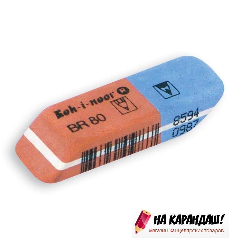 Ластик прям крас-син BlueStar 41*14*8мм KIN 6521/80