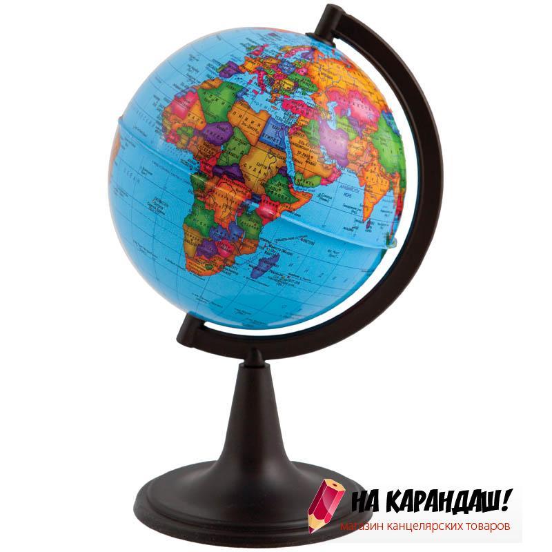Глобус политический диаметр 120мм на круглой подставке 10018