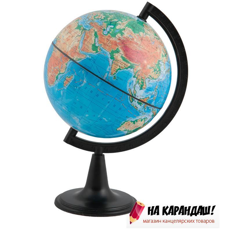 Глобус физический диаметр 150мм на круглой подставке 10003