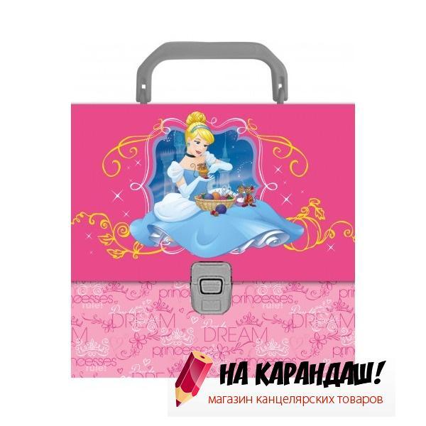 Портфель А4 1 отделение пластиковый Принцессы Королевский бал EK43299