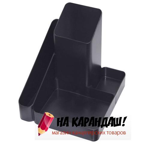 Подставка-органайзер для офисных принадлежностей пластиковая 4 отделения Имидж ОР31 черный