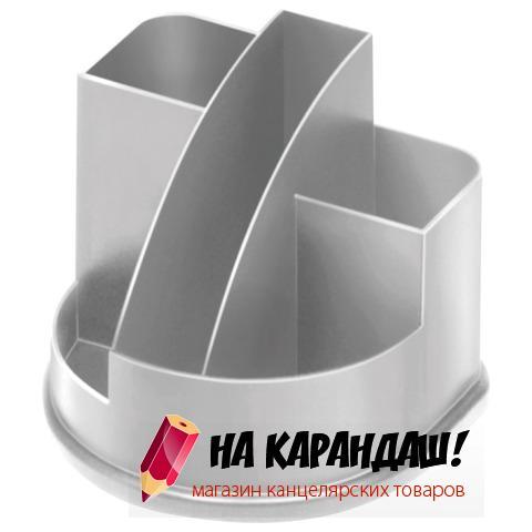 Подставка-органайзер для офисных принадлежностей пластиковая 5 отделений Авангард ОР51 серый