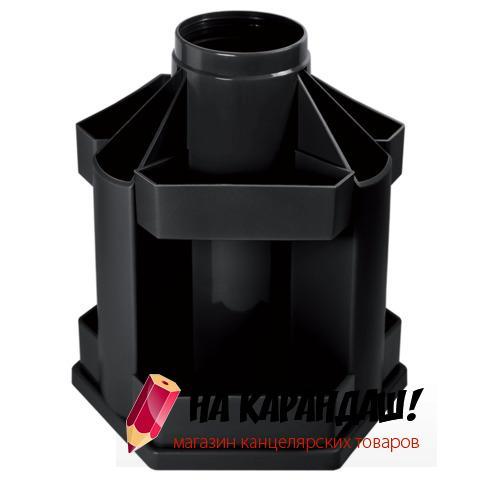 Подставка-органайзер для офисных принадлежностей пластиковая вращающаяся Maxi Desk ОР200 черная
