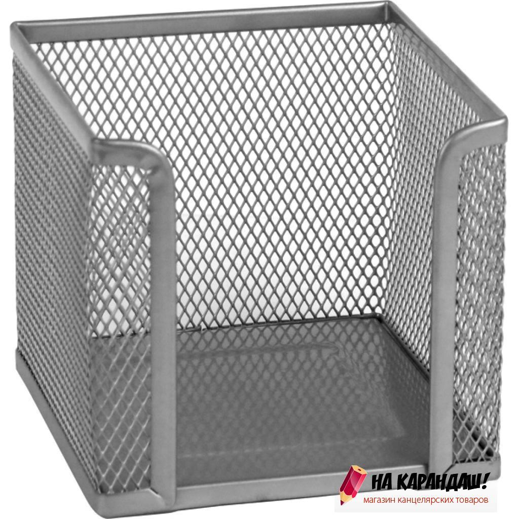 Подставка для бумажного блока металлическая сетка серебристая 2112-03