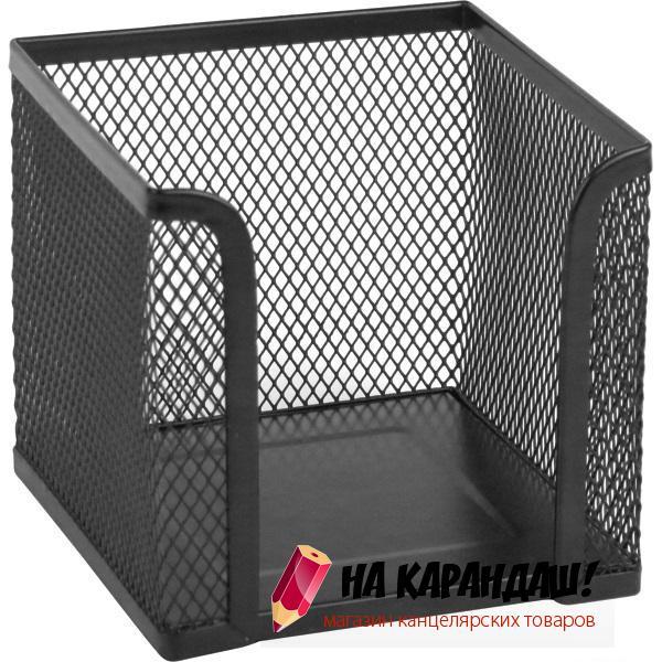 Подставка для бумажного блока металлическая сетка черная Germanium 231944
