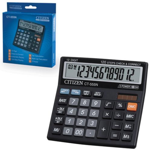 Калькулятор наст Citizen 12раз 130*128мм CT-555N