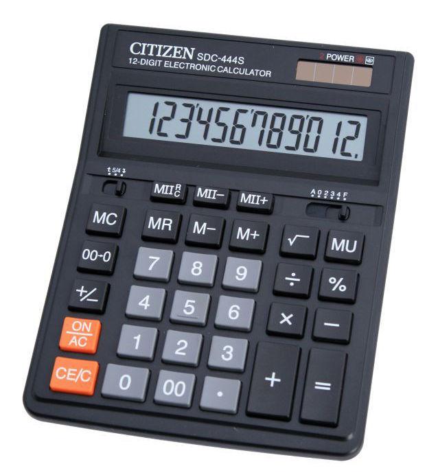 Калькулятор наст Citizen 12раз 153*199мм SDC-444S