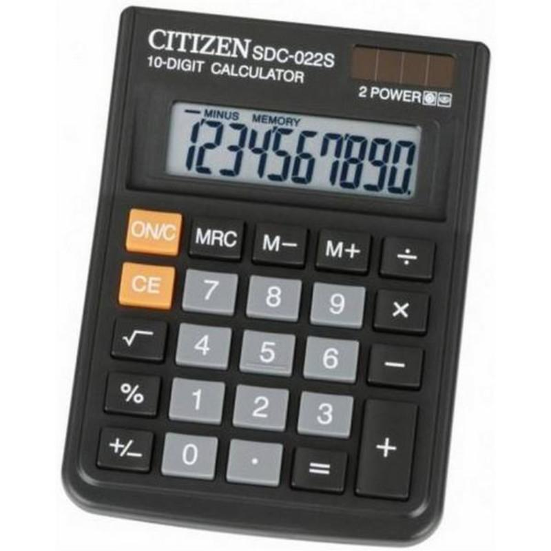 Калькулятор наст Citizen 10раз 87*120мм  SDC-022S