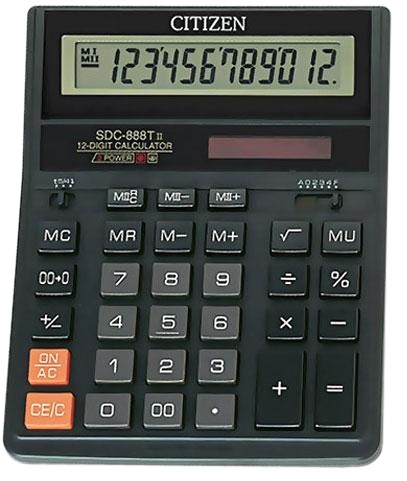 Калькулятор наст Citizen 12раз 158*203мм SDC-888TII