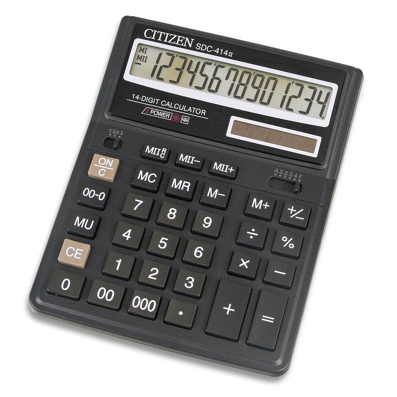 Калькулятор наст Citizen 14раз 158*203мм SDC-414 N
