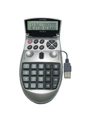 Калькулятор мышь Citizen 12раз 75*135*22мм USB-MO12