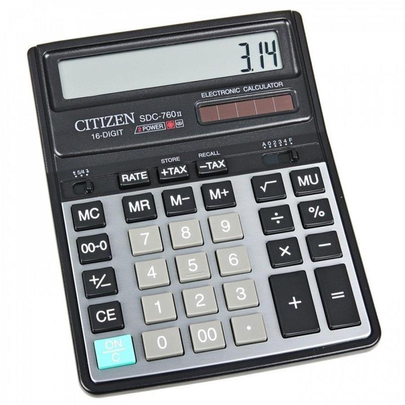 Калькулятор наст Citizen 16раз 158*203мм SDC-760N