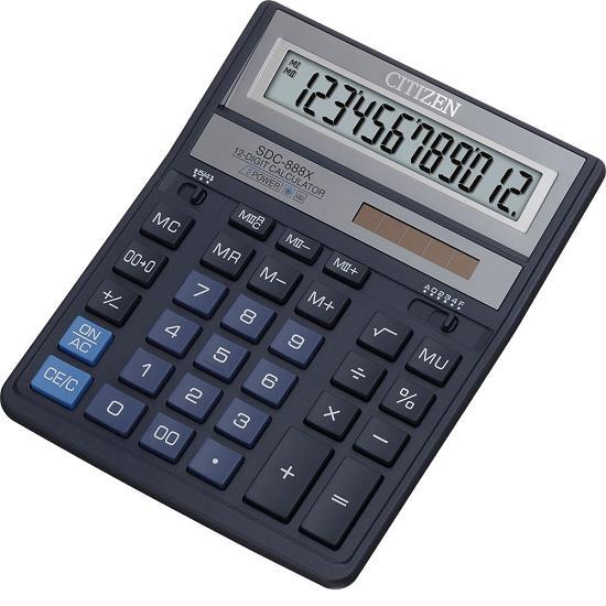 Калькулятор наст Citizen 12раз 158*203мм SDC-888 XBL