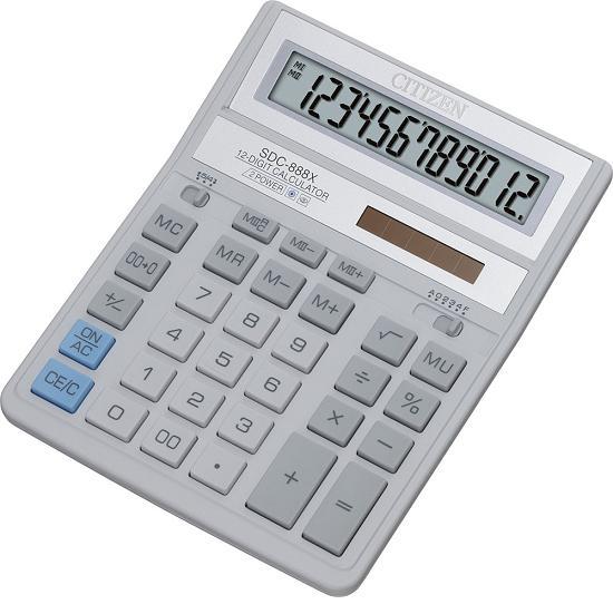 Калькулятор наст Citizen 12раз 158*203мм SDC-888 XWH