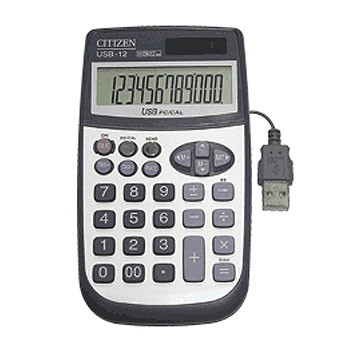 Калькулятор наст Citizen 12раз 75*135мм USB-12