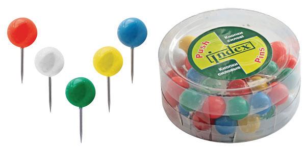Кнопки-шарики цв 50шт/уп Index ISPP1020