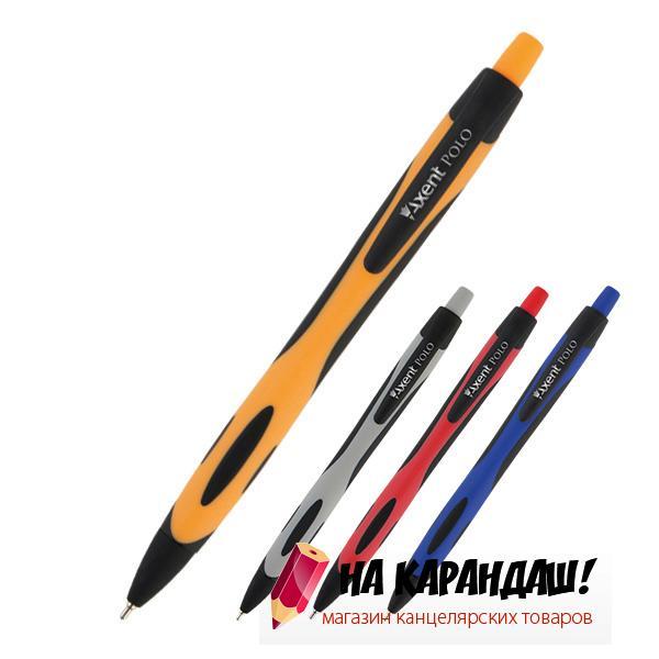 Ручка шарик автомат AX Polo 0.7мм син AB1066-02