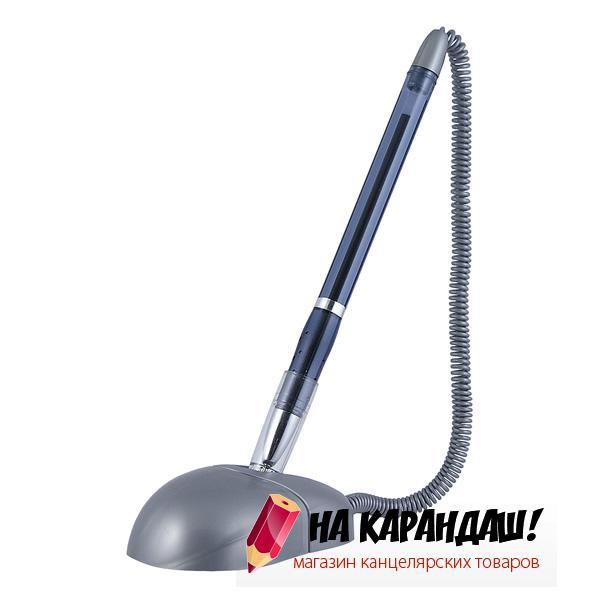 Ручка шариковая н/лип подст AX1019-02/36/ Desk Pen 0.7мм син серый корпус