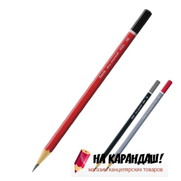 Карандаш графитный без ластика 6-гр AX9000 HB /100/