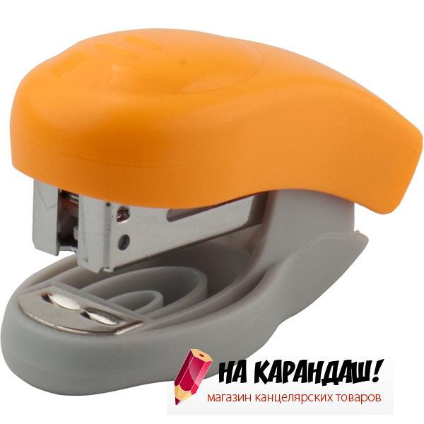 Степлер 24/6 10л пл mini Welle АХ4811-12 оранж