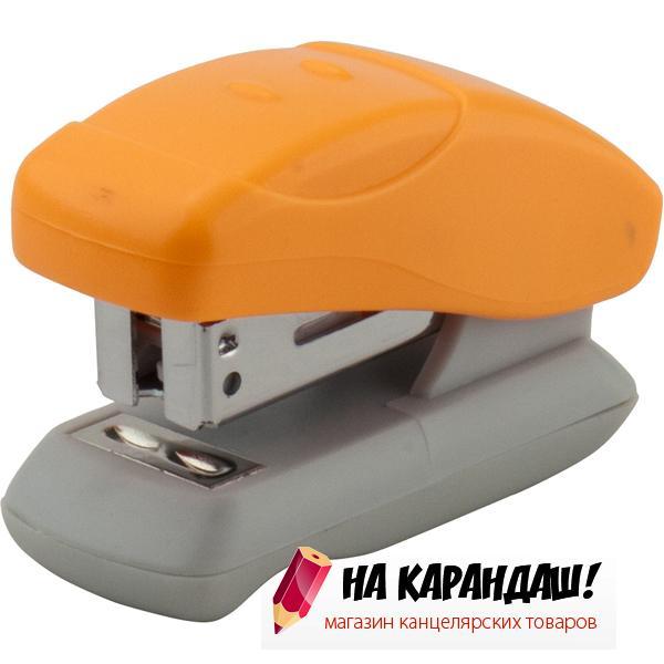Степлер 24/6 12л пл mini Welle АХ4814-12 оранж