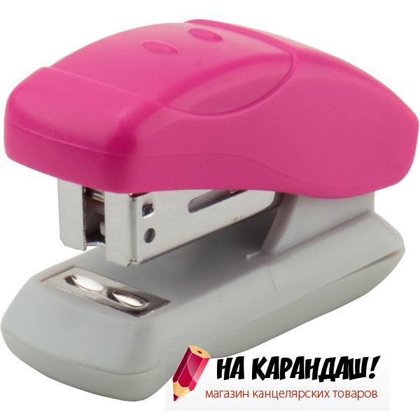 Степлер 24/6 12л пл mini Welle АХ4814-10 роз