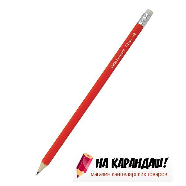 Карандаш графитный с ластиком 6-гр D2101 НВ /100/