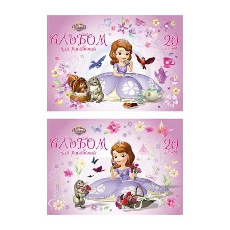 Альбом для рисования A4 20 листов Sofia in flowers 39578