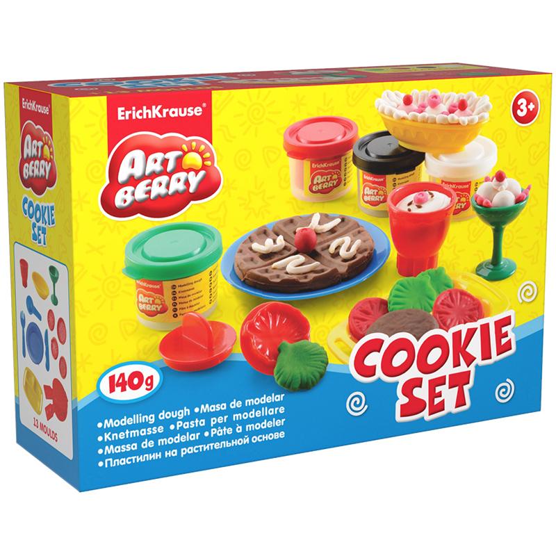 Пластилин на раст осн Cookie Set 4 бан/35г EK30375