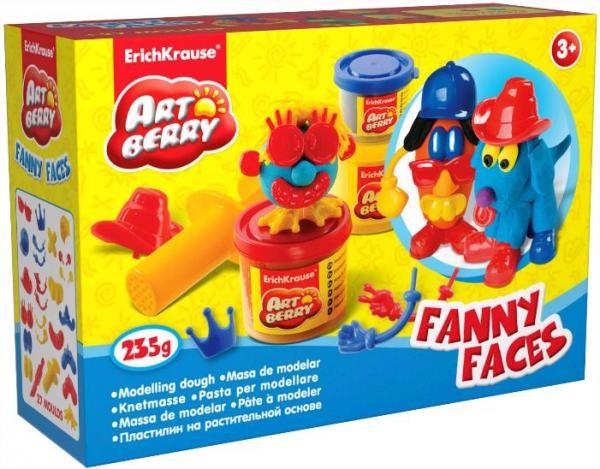 Пластилин на раст осн Funny Faces 2 бан/100г EK30384