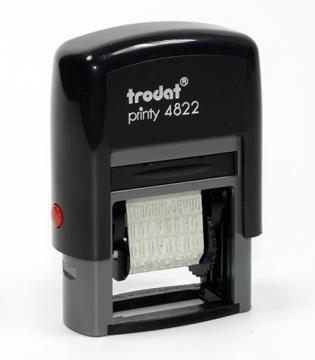 Штамп пл mini 12 бух терм Trodat 4822Rus