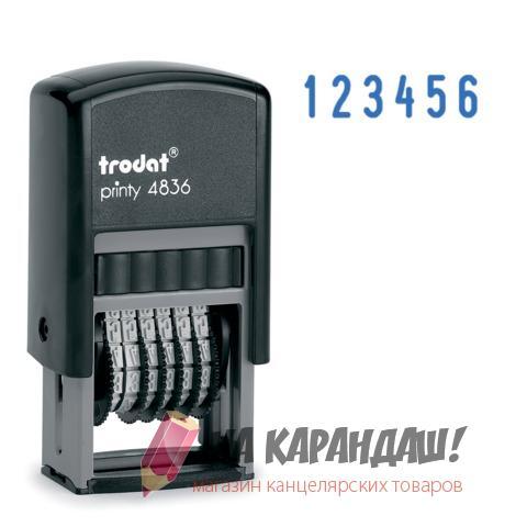Нумератор 6-разр 3.8мм mini Trodat 4836
