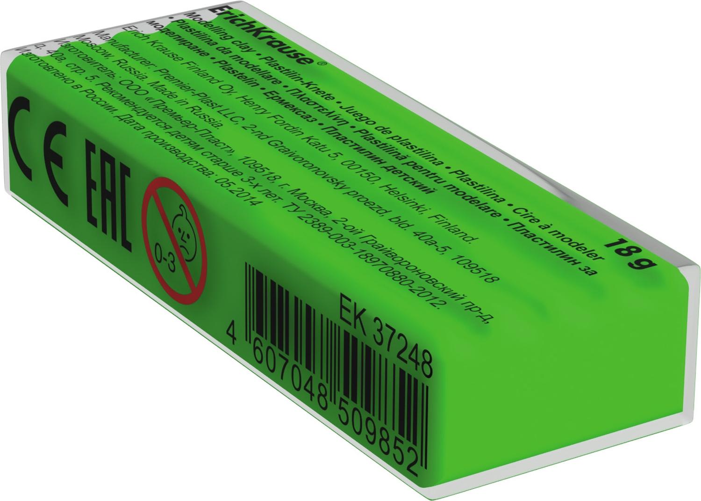 Пластилин шт 18гр EK37267 Neon зеленый