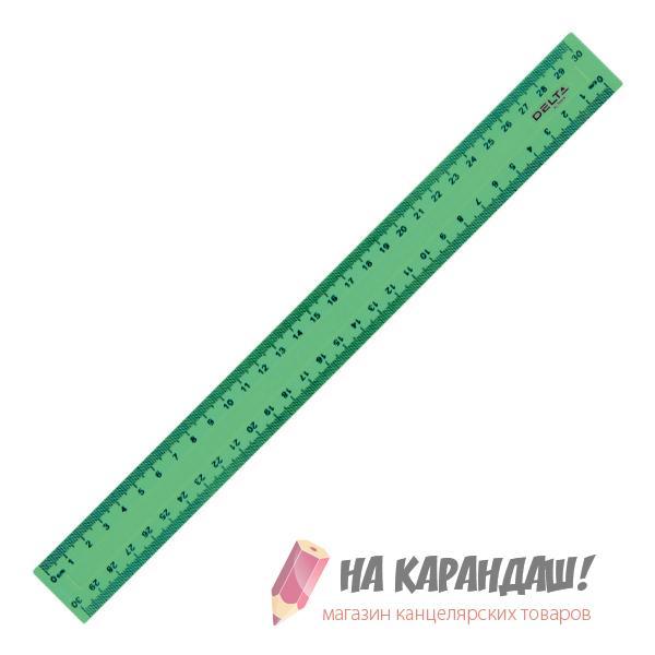 Линейка пластиковая 30см непрозрачная D9800-02