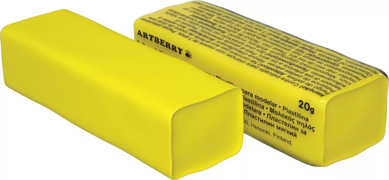 Пластилин мягкий шт 20гр Artberry EK37281 желтый