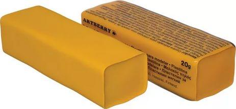 Пластилин мягкий шт 20гр Artberry EK37286 оранжевый