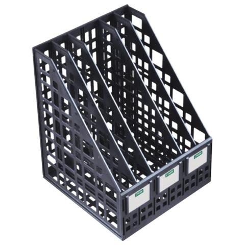 Лоток вертикальный пласт 5отд черн СТАММ ЛТ85