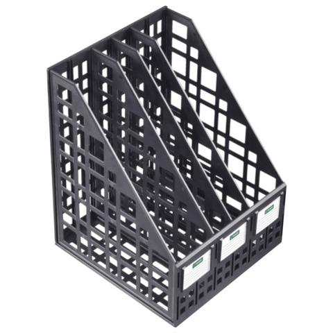 Лоток вертикальный пласт 4отд черн СТАММ ЛТ83