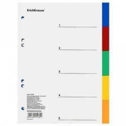 Индекс-разделитель А5 5цв пл EK15182