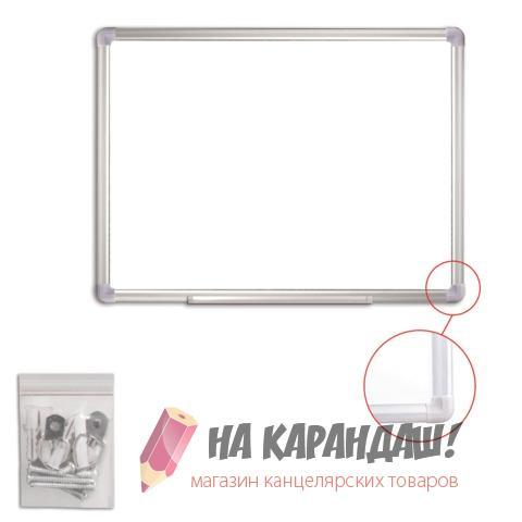 Доска магнитно-маркерная 45*60 см алюминевая рамка 235461