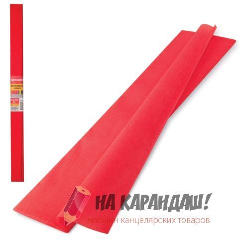 Бумага гофр 50*250см 32г/м красный Brauberg 126531