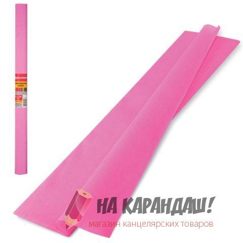 Бумага гофр 50*250см 32г/м розовый Brauberg 126532