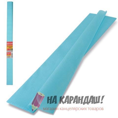 Бумага гофр 50*250см 32г/м голубой Brauberg 126534