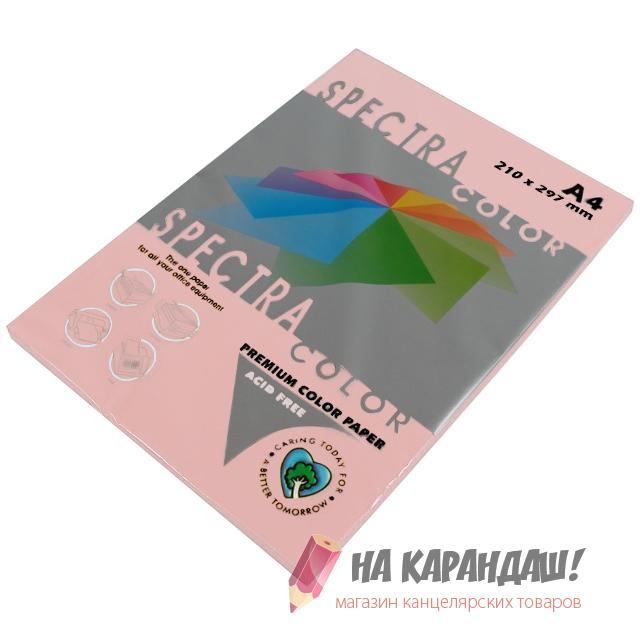 Бумага цв А4 (100л) 80г св-розовый №140