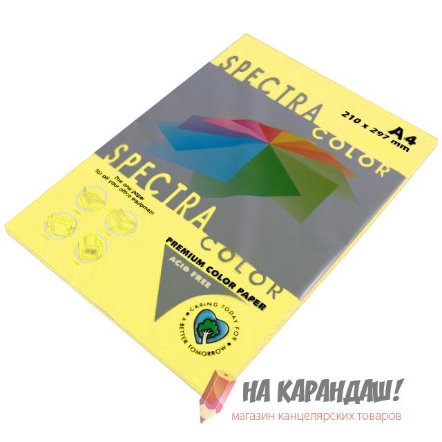 Бумага цв А4 (100л) 80g Pastel SC №115 канареечный